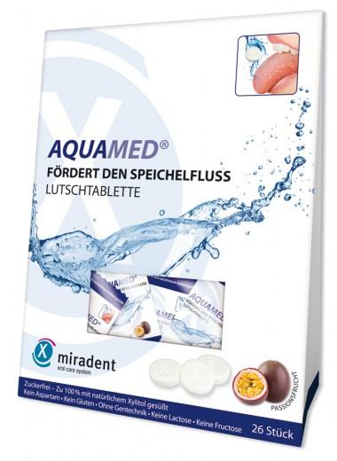 Miradent Aquamed pastile z okusom pasijonke, 26 pastil