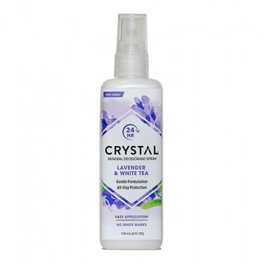 Crystal deodorant z vonjem sivka z belim čajem, (razpršilo), 118 ml