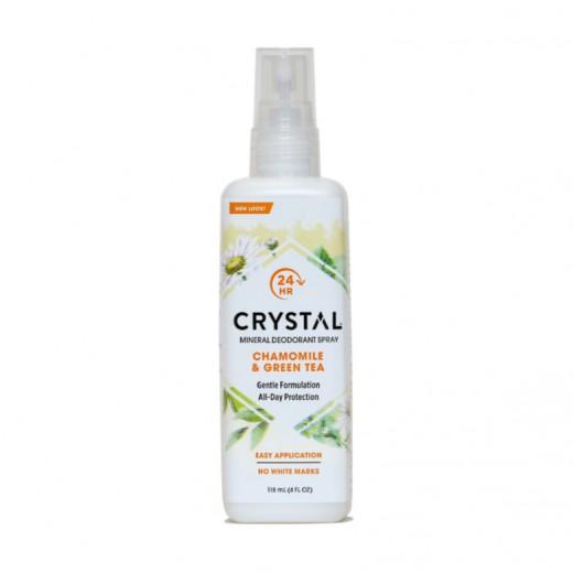 Crystal deodorant kamilica z zelenim čajem (razpršilo), 118 ml