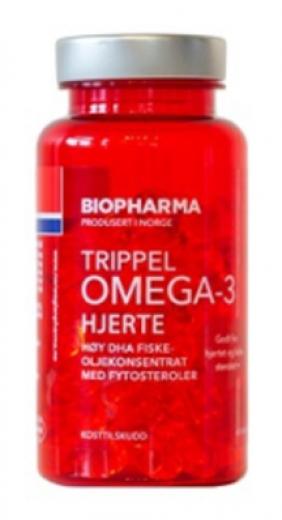 Biopharma, trippel omega 3 - trojna omega - 3 za srce, 120 kapsul