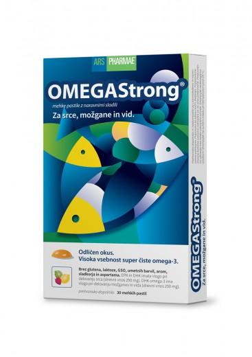 OMEGAStrong, prehranska dopolnila z omega - 3, 30 mehkih pastil