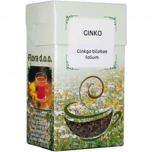 Ginko zeliščni čaj Flora, 50 g
