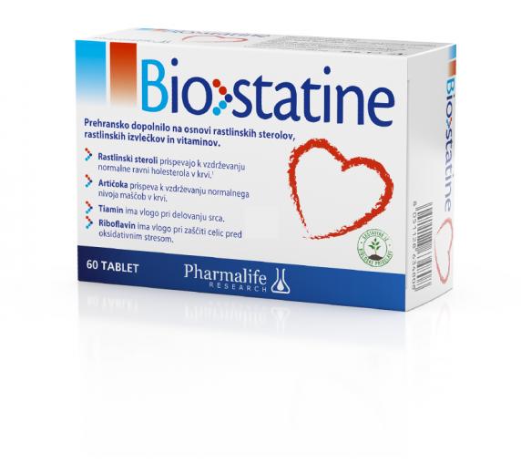 Pharmalife Research, biostatine, prehransko dopolnilo, 60 tablet