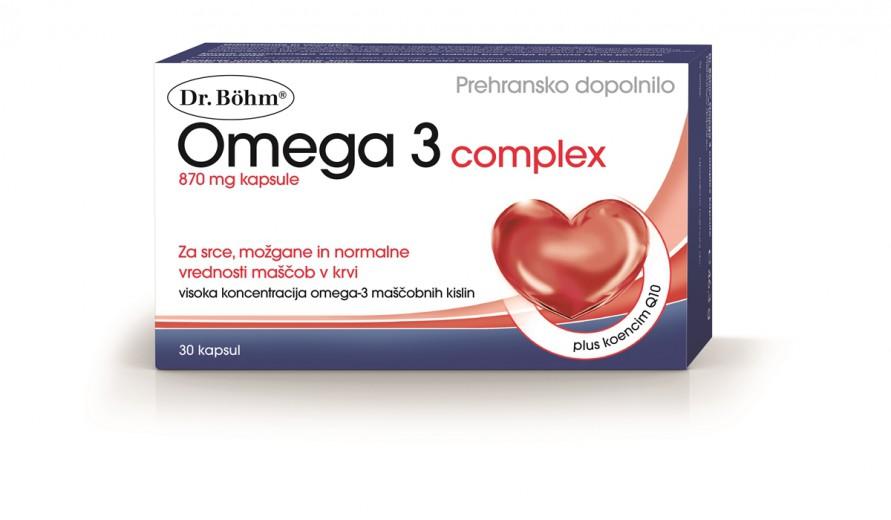 Dr. Böhm, omega 3 kompleks, 30 kapsul