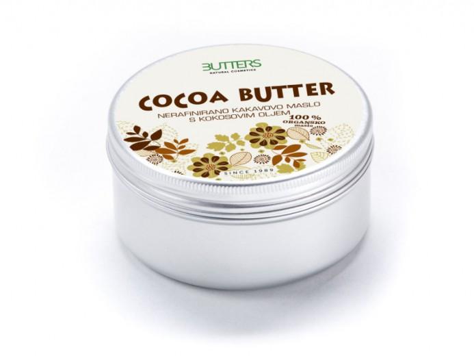Butters Nerafinirano kakavovo maslo s kokosovim oljem, 100 ml