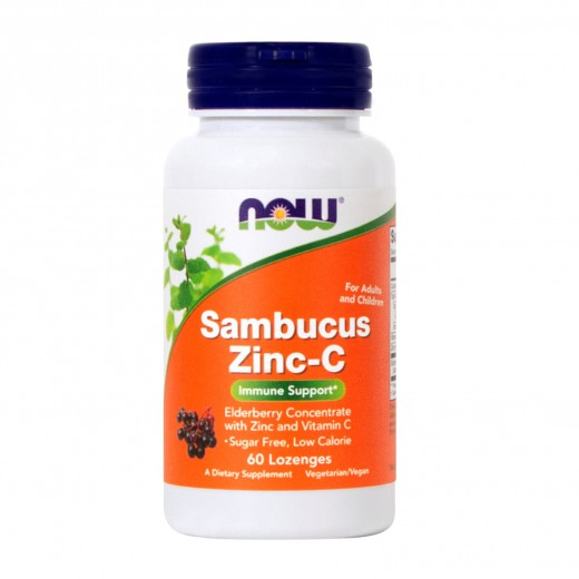 Now, bezeg cink - vitamin C z naravnimi sladili, 60 pastil