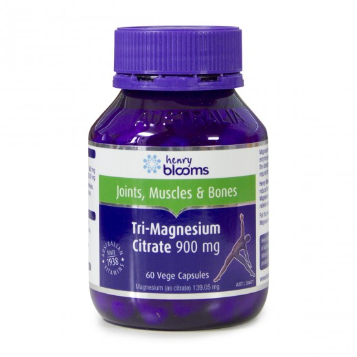 Blooms, henry blooms tri - magnezijev citrat, 900 mg, 60 kapsul