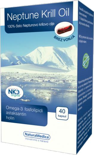 NaturaMedica, neptunovo krilovo olje, 40 kapsul