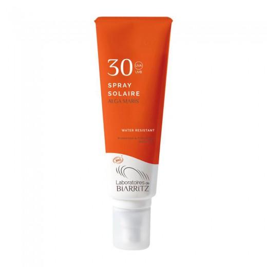 Biarritz Alga Maris Bio sprej za sončenje za obraz in telo SPF30, 100 ml