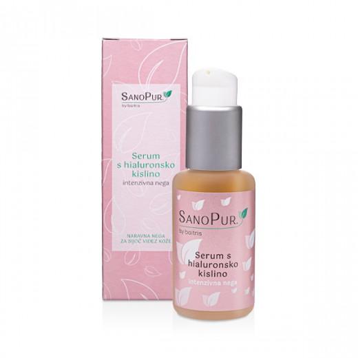 SanoPur serum s hialuronsko kislino - intenzivna nega, 50 ml