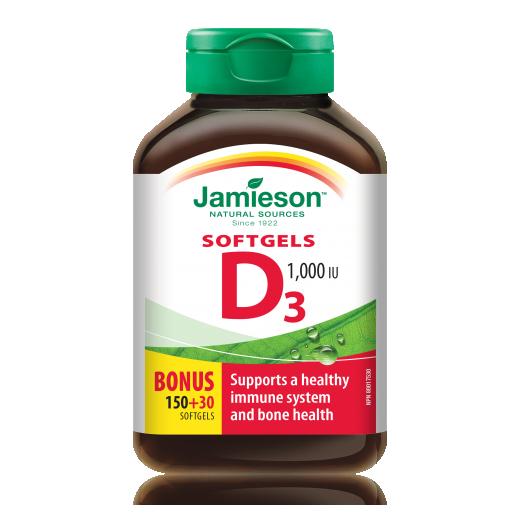 Jamieson Vitamin D 1000 i.e., 180 kapsul