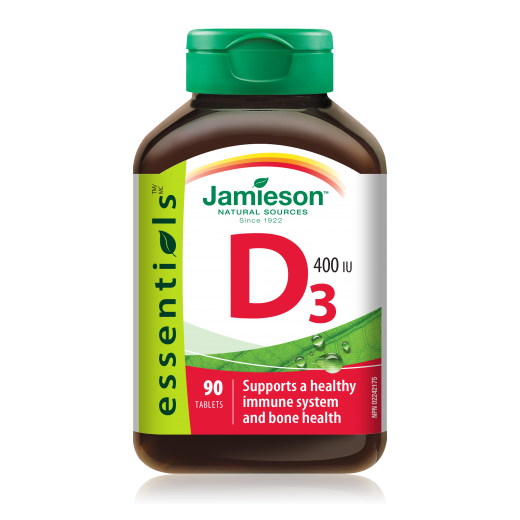 Jamieson, vitamin D tablete 10 μg (400 i.e.), 90 tablet