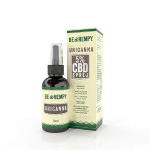 Unicanna sprej, 5% CBD kapljice Be hempy 10 ml