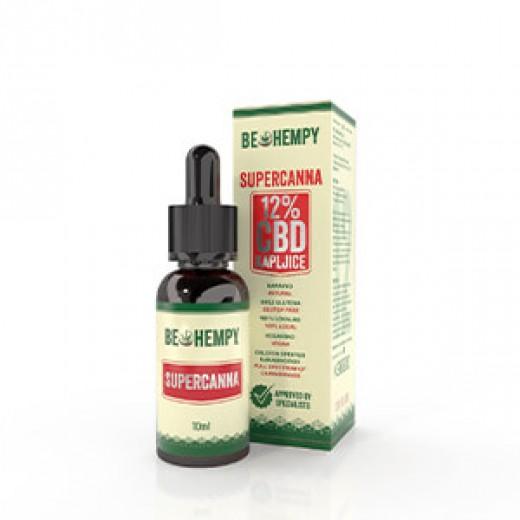 Be Hempy, 12 % CBD konopljine kapljice SuperCanna, 10 ml