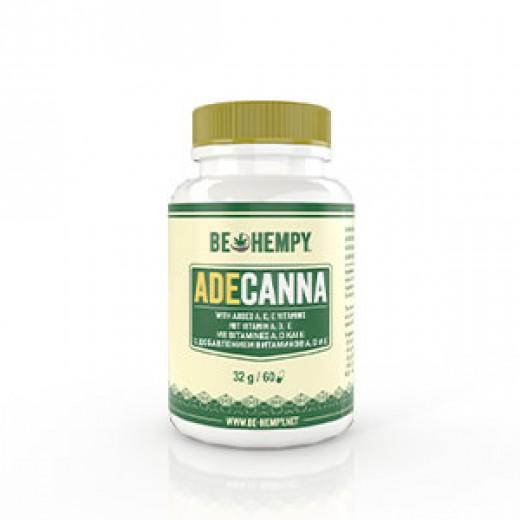 Be Hempy, ADE - Canna, CBD konopljin cvet - vitamin A, D in E, 60 kapsul