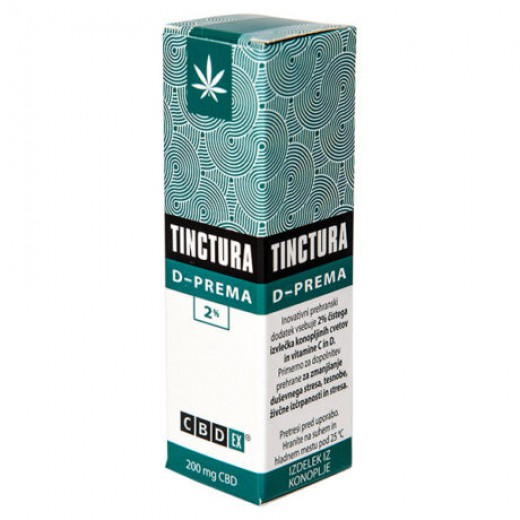 CBDex, tinctura D - PREMA 2 %, 10 ml