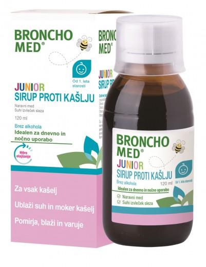 Bronchomed, junior sirup proti kašlju, 120 ml
