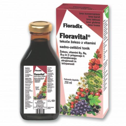 Floradix, prehransko dopolnilo floravital, 250 ml