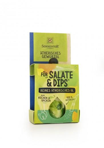 Bio začimbna mešanica eteričnih olj za solate in omake