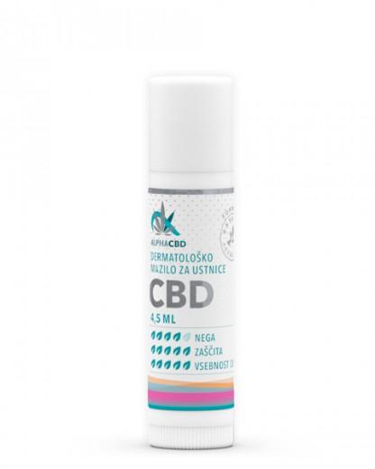 Dermatološko mazilo za ustnice Alpha CBD, 4,5 ml