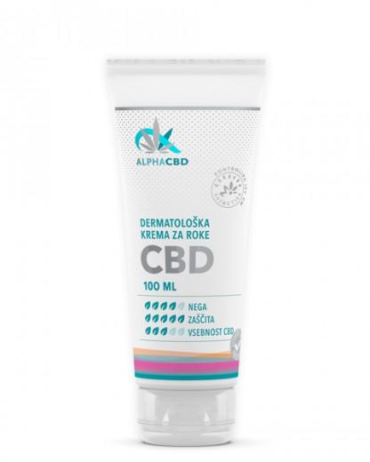 Dermatološka krema za roke Alpha CBD, 100 ml