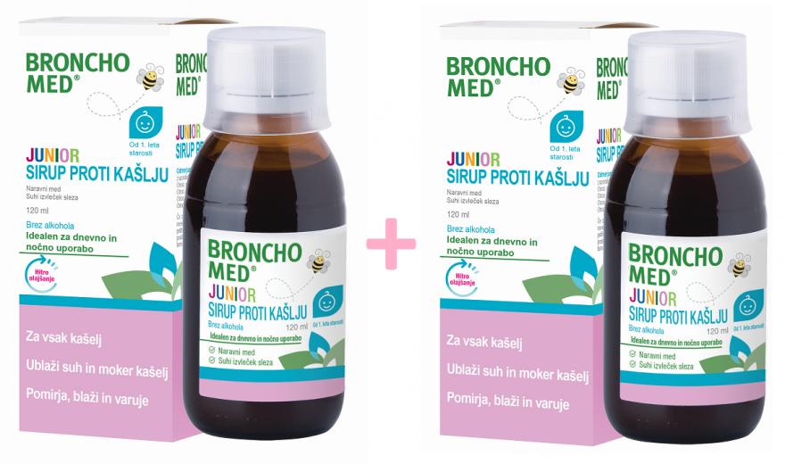 Bronchomed Junior sirup proti kašlju 120 ML 1 + 1 GRATIS
