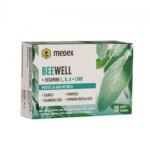 Medex, beewell pastile žajbelj in islandski lišaj