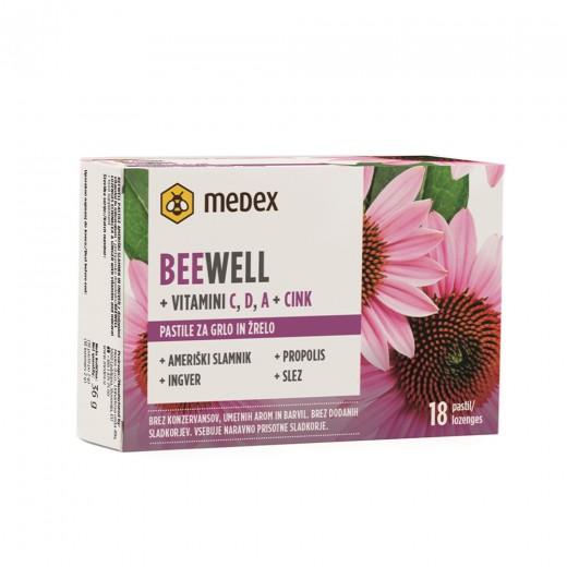 Medex, beewell pastile ameriški slamnik in ingver