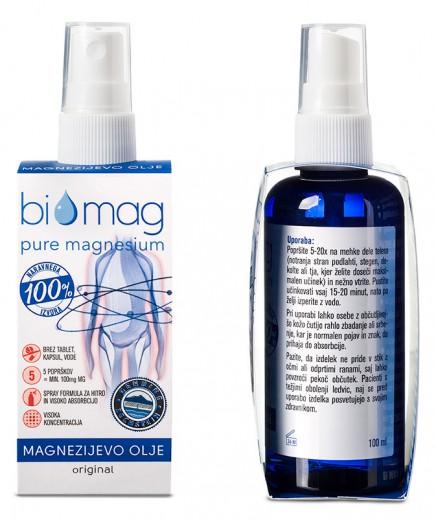 Magnezijevo olje Bi Mag v pršilki, 100 ml