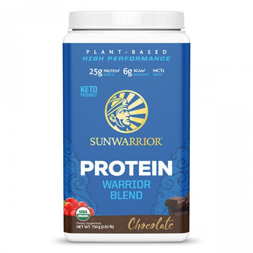 Proteini Sunwarrior Warrior Blend čokolada, 750 g