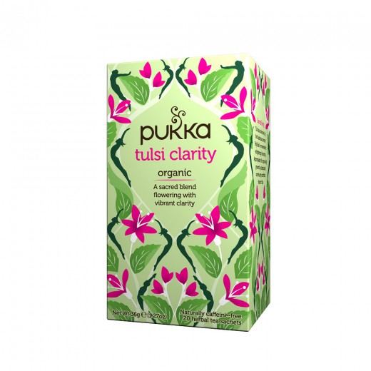 Čaj Tulsi za jasen um Pukka, 20 čajnih vrečk