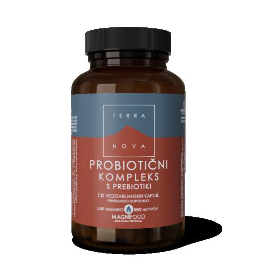 Terranova, probiotični kompleks s prebiotiki, 100 kapsul