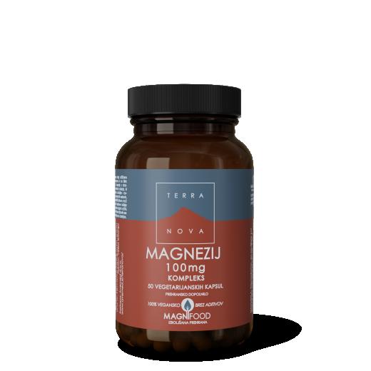 Terranova, magnezij, 100 mg, 50 kapsul