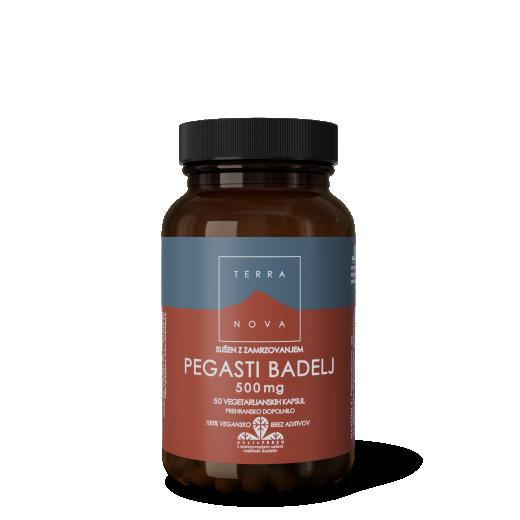 Terranova, pegasti badelj, 500 mg, 50 kapsul
