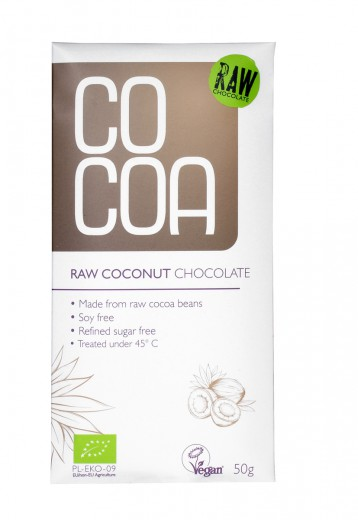 COCOA BIO presna kokosova čokolada 50 g