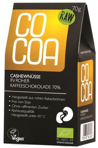 COCOA BIO indijski oreščki v kavni presni čokoladi 70 g