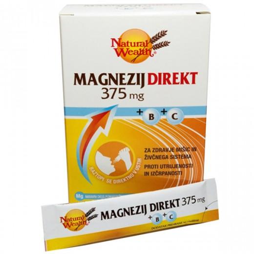 Natural Wealth, magnezij direkt, 20 vrečk