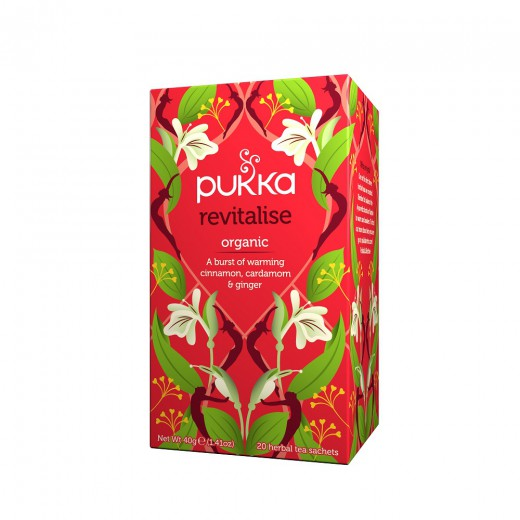 Čaj Poživitev Pukka, 20 čajnih vrečk