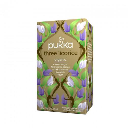 Čaj Trojni sladki koren Pukka, 20 čajnih vrečk