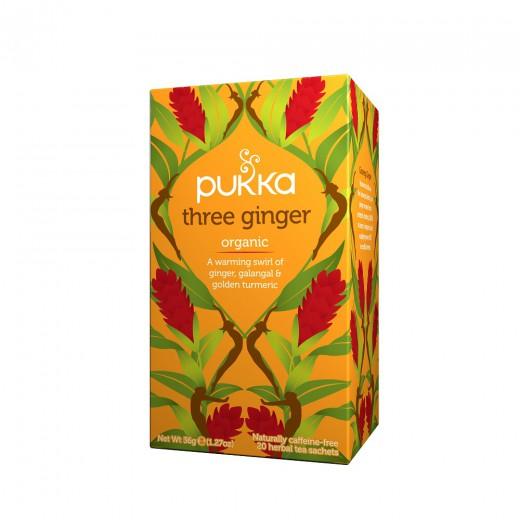 Čaj Trojni ingver Pukka, 20 čajnih vrečk