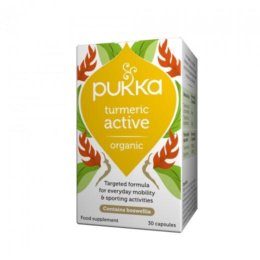 Pukka, kurkuma aktiv, 30 rastlinskih kapsul