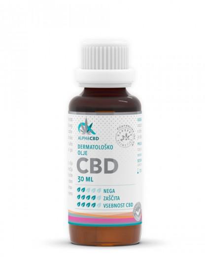 Dermatološko olje CBD Alpha CBD, 30 ml