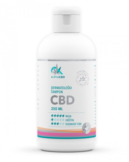 Dermatološki šampon CBD Alpha CBD, 250 ml