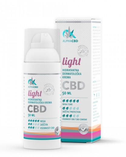Hidratantna dermatološka krema LIGHT Alpha CBD, 50 ml