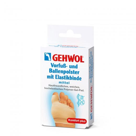Gehwol blazinica za sprednji del stopala in palec z el. trakom, srednja, 1 kom