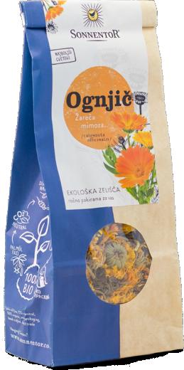 Bio čaj ognjičevi cvetovi Sonnentor, 50 g