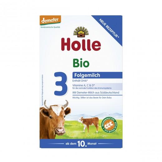 Bio nadaljevalno mleko v prahu 3 (Demeter) Holle, 600 g