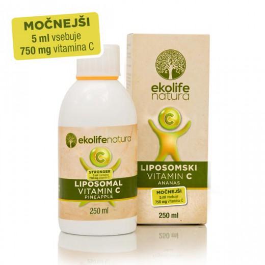 Ekolife natura liposomski vitamin C (750mg) ananas, 250ml