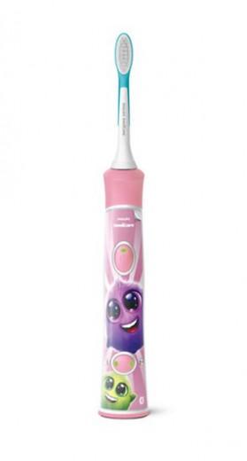 Sonicare HX6352/42 zobna ščetka ForKids, Bluetooth, roza