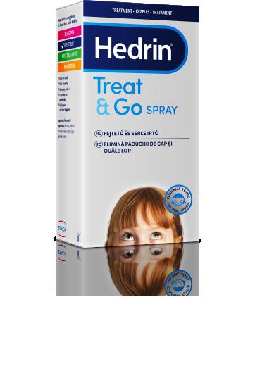 Hedrin Treat & Go, pršilo za odstranjevanje uši in gnid, 60 ml